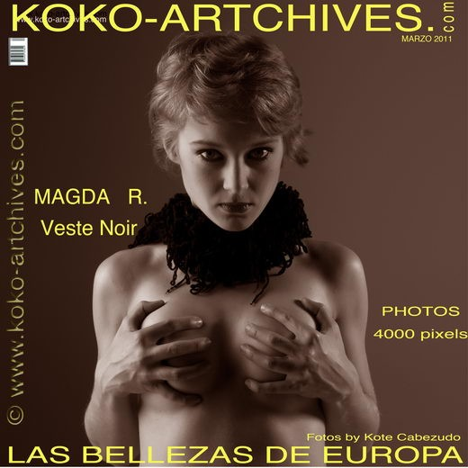 Magda R - `Veste Noir` - by Kote Cabezudo for KOKO ARCHIVES
